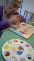 Peggy painting 3D acetate picture