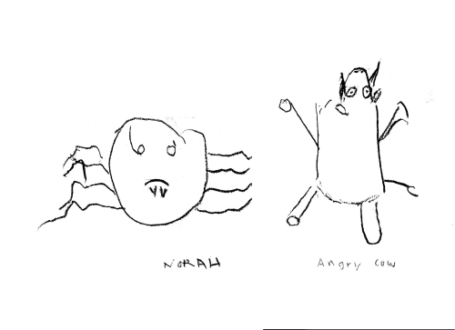 Norah - Angry cow and scary spider
